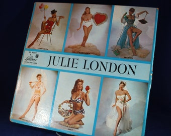 Julie London Deluxe Series Calendar Girl Album with Record 1956 Featuring Big Band Swing Music Liberty Records USA SL 9002