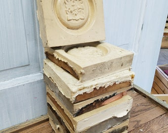 Wood Plinth Block, Architectural Salvage, Wood Rosettes, Carved Flower, Corner Block, Carved Wood Accent, Salvaged Trim Salvage decor Accent