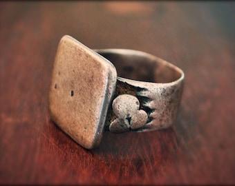 Tuareg Silver Ring - Size 8