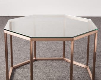 Modern Coffee Table, Hexagon Coffee Table, Home Decor, Mid Century Modern,  Table