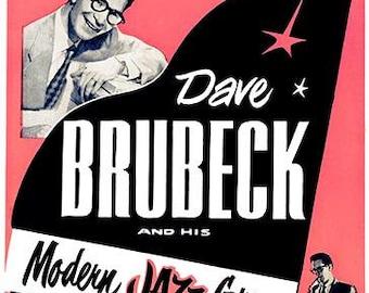Dave Brubeck - Buffalo NY - 1957 - Concert Poster