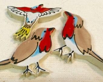 Yard Birds Handmade Ceramic Mosaic Tile Pack