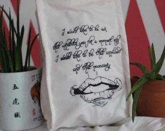 bestickte Tasche /  embroidered Bag