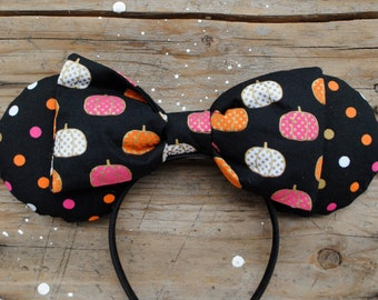 Pumpkin and Polka Dots Mouse Ears