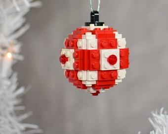 Lego Christmas Ornament - Globe