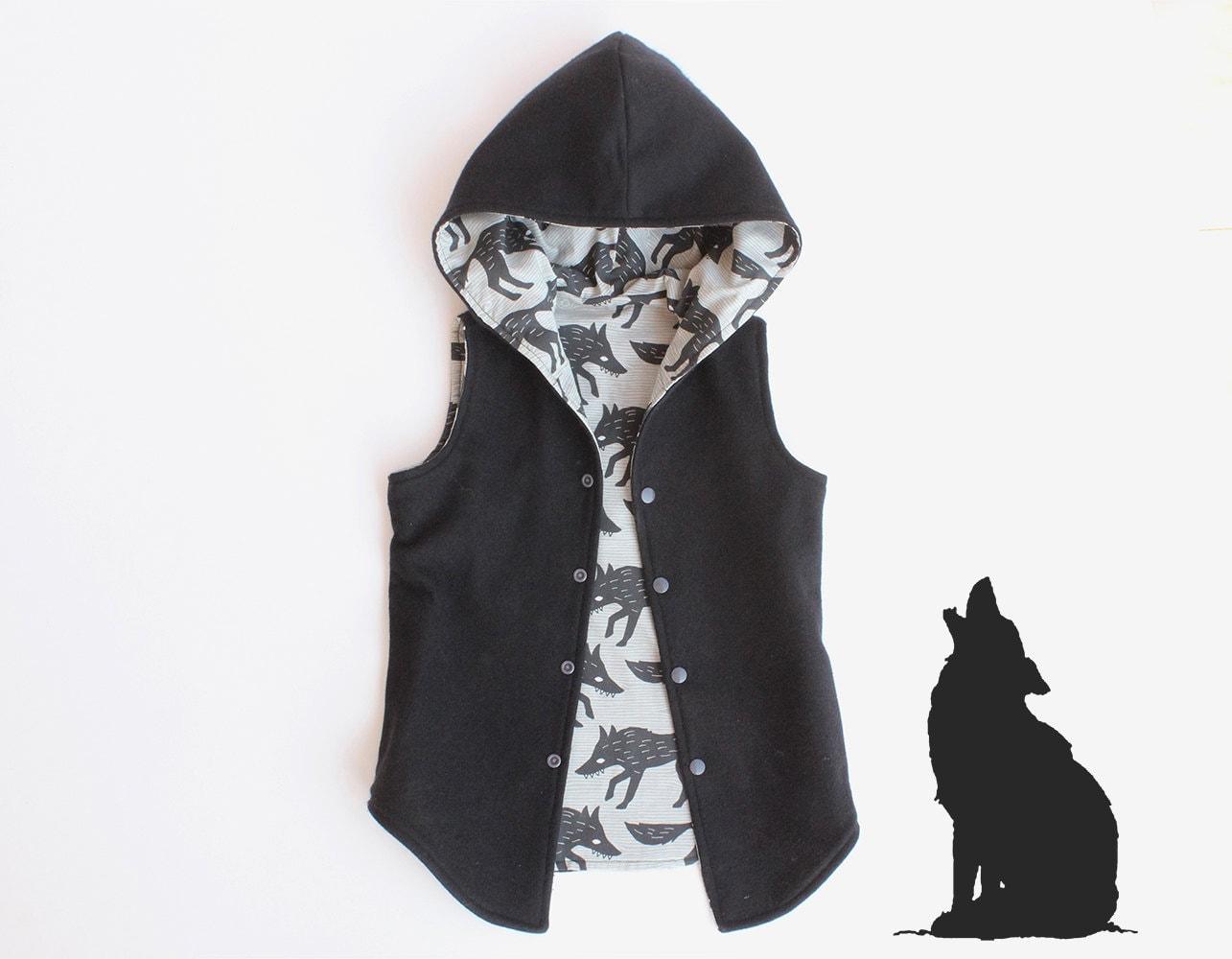 Big Bad Wolf Vest Boy Girl Vest Pattern Pdf Sewing Long Vest