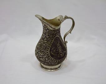 Fait à la main cuivre cruche, pichet, cuivre, cuivre pichet, Vintage, décoration en cuivre, Vase, Vase en cuivre