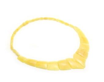 Statement Necklace - Butterscotch Amber - Amber Necklace - Beaded Necklace - Gemstone Necklace - Genuine Amber - Baltic Amber -DO-291