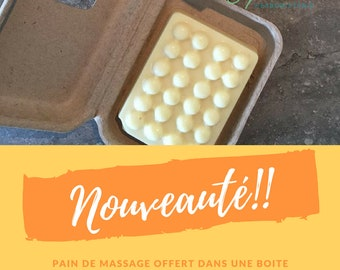 "Massage bar ""pear and lavender"", massage, solid lotion bar"