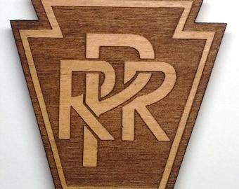 Pennsylvania Railroad Logo Wooden Fridge Magnet (Small)