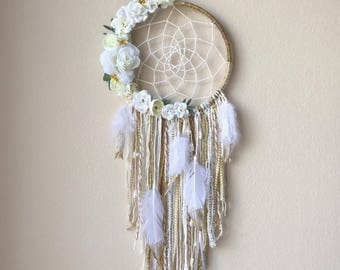 "8"" Custom Floral/Feather dream catchers"