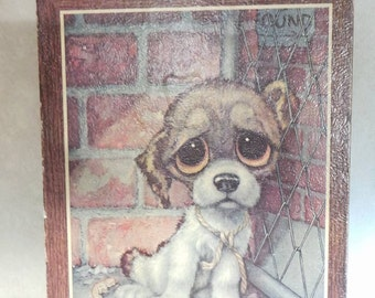Vintage Bucky 1960s Big Eyed Pity Puppy Art Print by Giq - Collectible print - Dog lovers