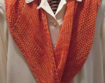 RASPBERRY ORANGE Merino Wool Scarf