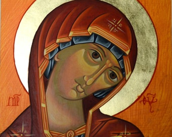 THEOTOKOS, MOTHER of GOD, icon, Catholic gift, religious card, Byzantine, Orthodox, Mary, Blessed Mother, saints, Our Lady
