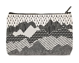 Cascades Mountain Canvas Zip Pouch