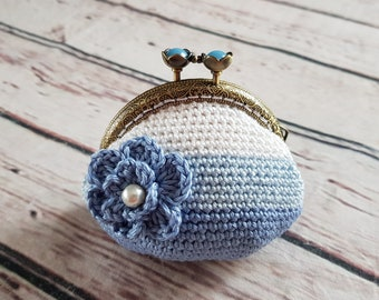 Crochet coin purse  LINED