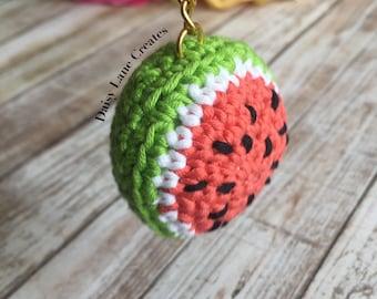 Watermelon Amigurumi Keychain