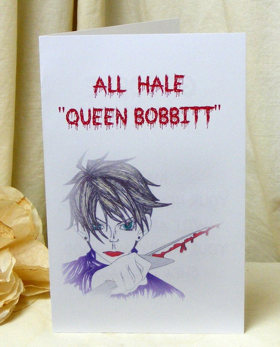 Hysterical Printable BREAK UP CARDS . . Queen Bobbitt