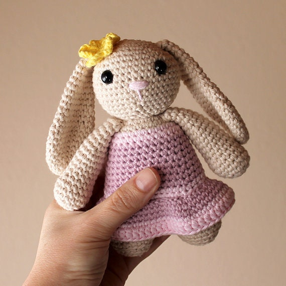Rabbit - Animalius. Crochet Doll, Amigurumi Toy, Crocheting, Made to Order, Animal Crochet, Cute Children Gift, Nursery Doll, DIY, Bunny