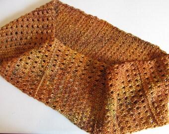 Autumn Eyelets Infinity Scarf Knitting Pattern - PDF