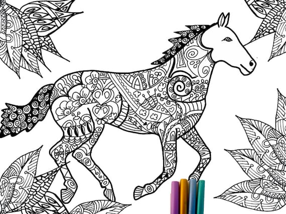 Items similar to Horse Coloring
