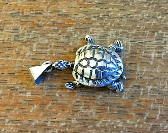 Sterling Articulated Turtle Charm
