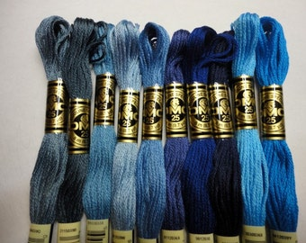 DMC Embroidery Floss, Choose 10, Cotton Embroidery Thread.