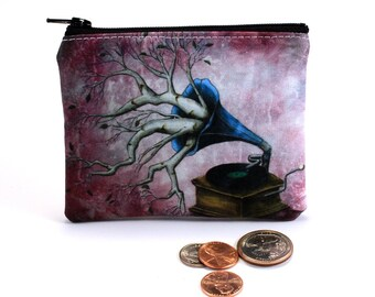 It Just Comes Naturally - Small Zipper Pouch - Whimsical Photograph with Tree Branches - Art by Marcia Furman