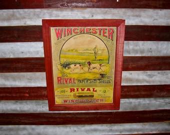 Vintage Advertisement / Winchester Rival Shotgun Shells / Ammo Advertisement / Recycled