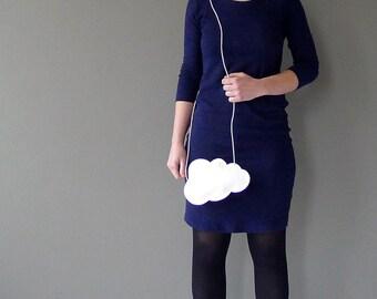 Mini cloud purse - white leather - cloud bag by Marieke Jacobs