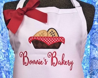 Apron Bakery Apron Personalized Apron Cooking Apron Baking Aprons for Women Monogrammed  Gift