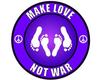 Make Love Not War Sticker Decal