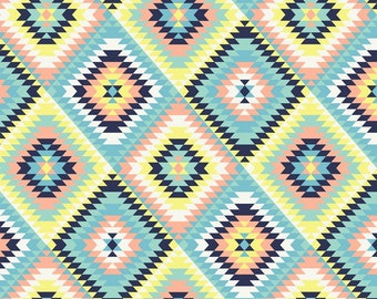 David Textiles Aztec Quilt Anti Pill Fleece Fabric by the Yard