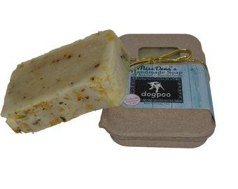 Organic, Vegan, All Natural, Perfect for Normal, Itchy, Dry, or Sensitive Skin | Miss Dena's Handmade Soap - Dogpoo - 7oz. Bar