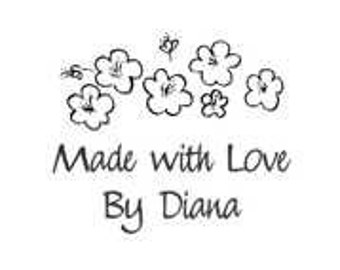 Made with Love By Custom Stamp - C590