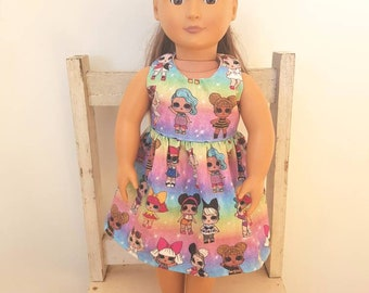 Doll dress handmade 18 inch fits American girl, Our Generation dolls