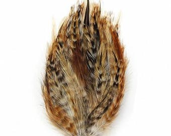 1DZ Natural Hackle Feather Pads B595CR