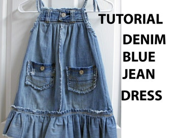 Recycled Blue Jean Denim Jumper Tutorial