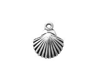 10 Shell Charm Sterling Silver SP824