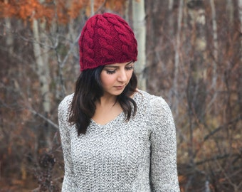 Pattern - Cable Knit Hat Knitting Pattern