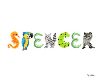 Custom Animal Alphabet Name
