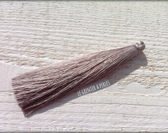 Large luxury silk tassel * grey 12 cm