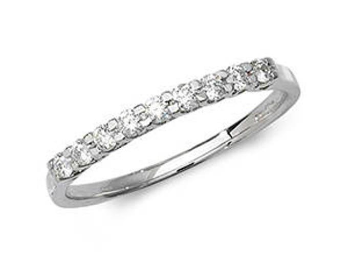 18K Gold ETERNITY DIAMOND Half 9D Cross Claw Ring