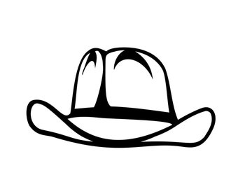 Cowboy Hat svg Western Silhouette Cutting File Clipart Scrapbooking SVG DXF jpg png psd Sure Cuts a Lot Inkscape, Photoshop Element Vector