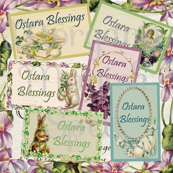 Ostara Blessings Labels - Printable