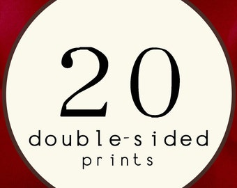 20 PRINTS - DOUBLE SIDED Printed Invitations Cards - 95355948