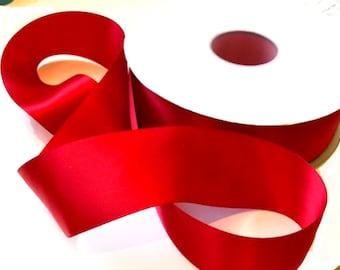 "Red Satin Ribbon, 1 1/2"" Wide, 50 Yard Roll"