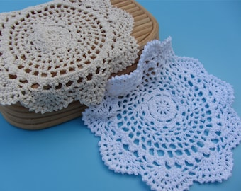 5pcs Cotton Crochet applique,Diameter 20cm