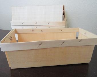 Berry Baskets ~ Farmers Market Basket ~ Wood Till ~Wood Basket ~ Quart Berry Basket ~ Party Favor ~ Gift Basket ~ Quart Size ~ (Set of 5)