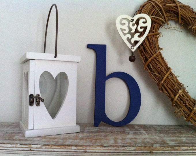 Featured listing image: Handpainted Wooden Wall Letter - 'b' - New Times Roman - small lowercase, any colour